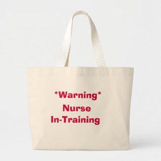 Warning Nurse In-Training Tote Bag