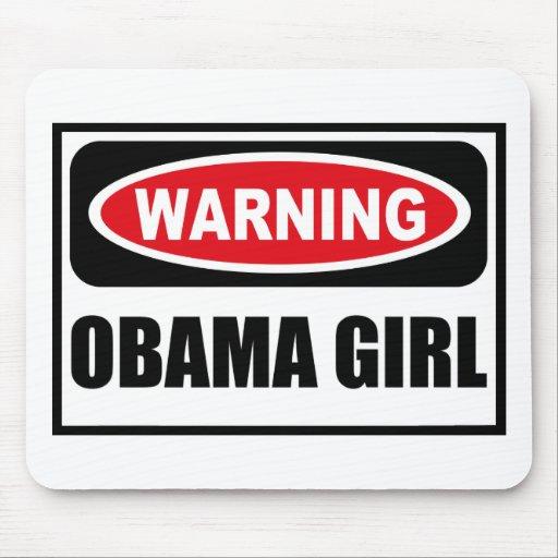 Warning OBAMA GIRL Mousepad