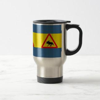 Warning of moose travel mug
