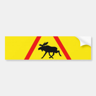 Warning of the moose bumper sticker