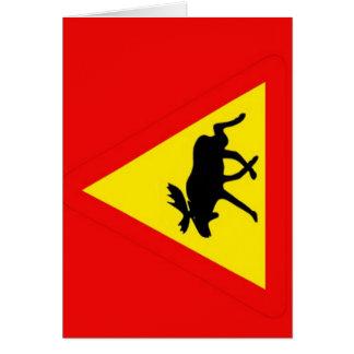 Warning of the moose greeting card