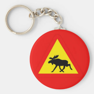 Warning of the moose keychain