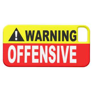 WARNING OFFENSIVE iPhone SE/5/5s CASE