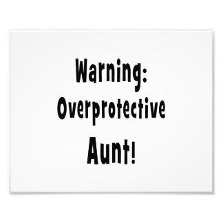 warning overprotective aunt black. photo art