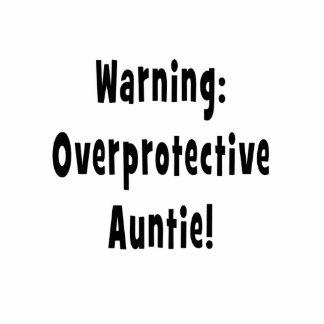 warning overprotective auntie black standing photo sculpture
