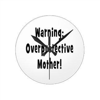 warning overprotective mother black txt clocks