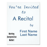 warning overprotective mother black txt personalized invitation