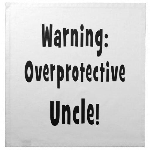 warning overprotective uncle black cloth napkins