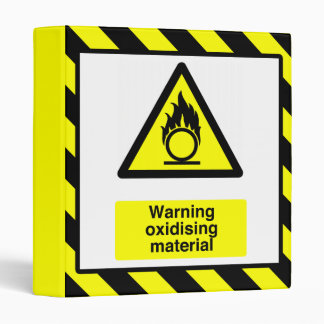 Warning Oxidizing Materials Binder