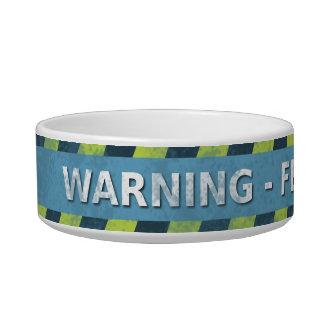 Warning Pet Bowls