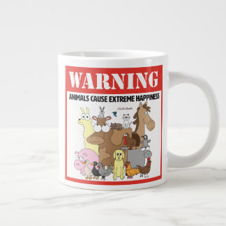 Warning: Pets Cause Extreme Happiness Large Coffee Mug