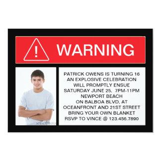 WARNING Photo Invitation