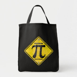 Warning: Pi is Irrational Grocery Tote Bag