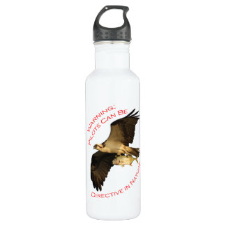 Warning: Pilots Can Be Stainless Steel Water Bottle