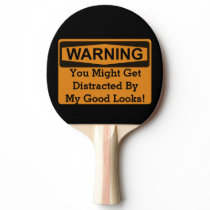 Warning Ping Pong Paddle