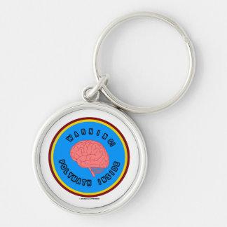 Warning! Polymath Inside (Brain Anatomy Logo) Keychain