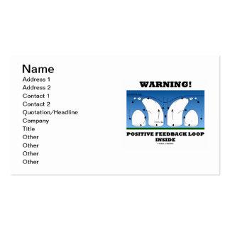 Warning! Positive Feedback Loop Inside Business Card Templates