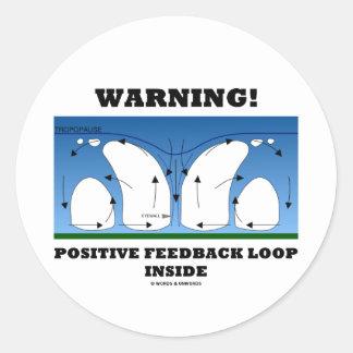 Warning! Positive Feedback Loop Inside Round Sticker