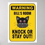 Warning poster - customize!
