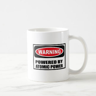 Warning POWERED BY ATOMIC POWER Mug