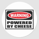 Warning POWERED BY CHEESE Sticker