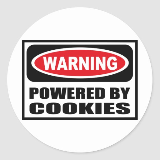 Warning POWERED BY COOKIES Sticker