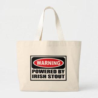 Warning POWERED BY IRISH STOUT Bag