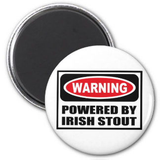 Warning POWERED BY IRISH STOUT Magnet
