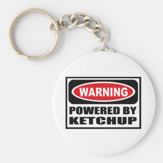 Warning POWERED BY KETCHUP Key Chain