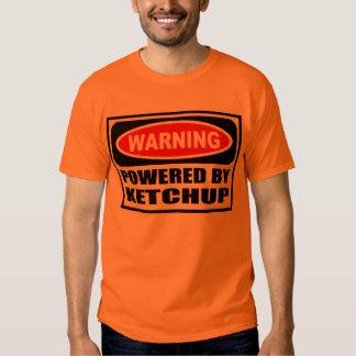 Warning POWERED BY KETCHUP Men's T-Shirt