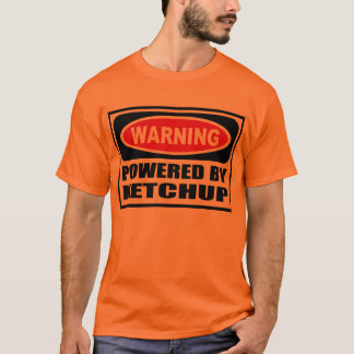 Warning POWERED BY KETCHUP Men's T-Shirt