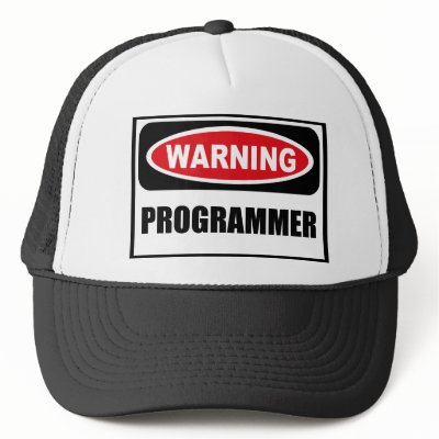 http://rlv.zcache.com/warning_programmer_hat-p148634644612738618qz14_400.jpg