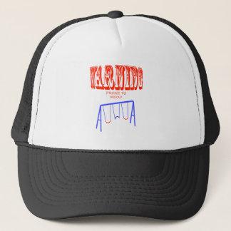 warning prone to mood swings trucker hat