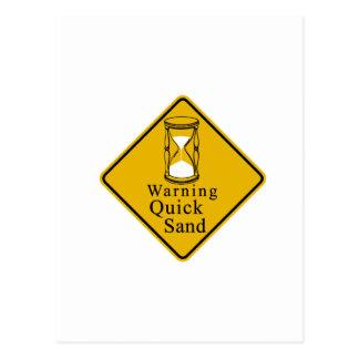 Warning quick sand postcard