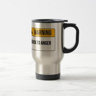 Warning - Quick To Anger Travel Mug