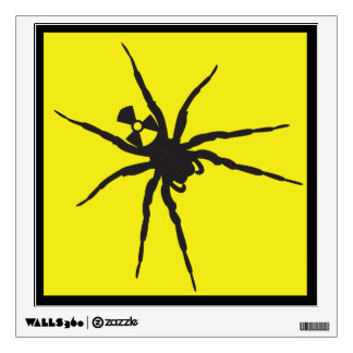 Warning: Radioactive Spider Zone Decal