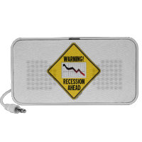 Warning! Recession Ahead (Yellow Diamond Sign) Speakers