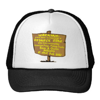 Warning Redneck Zone Proceed At Your Own Risk Trucker Hat