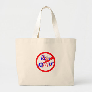 warning right nutter large tote bag