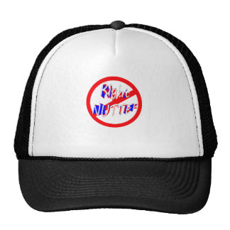 warning right nutter trucker hat