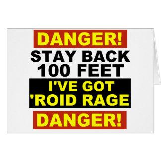 Warning Roid Range Card