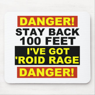 Warning Roid Range Mouse Pad