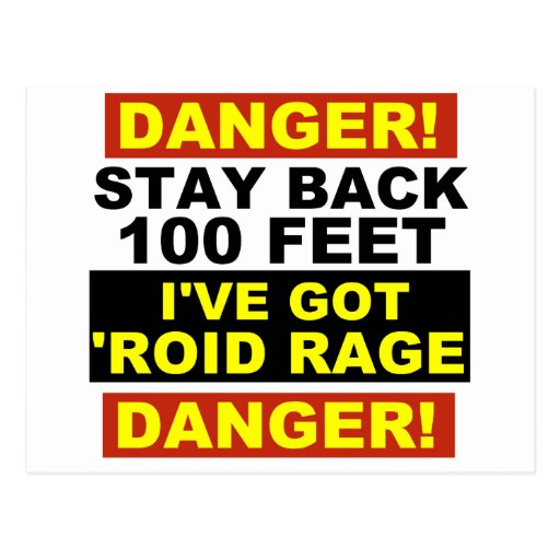 Warning Roid Range Postcard