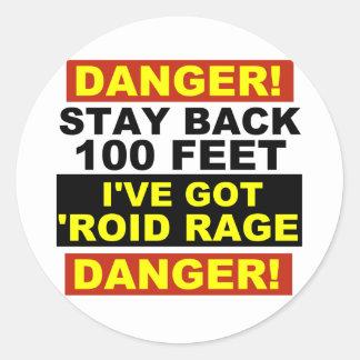 Warning Roid Range Stickers