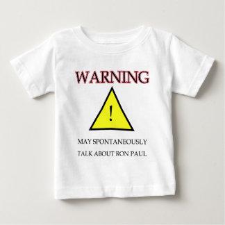 Warning Ron Paul.png Baby T-Shirt