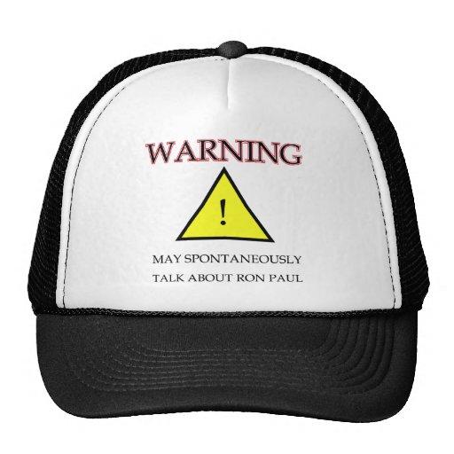Warning Ron Paul.png Trucker Hat