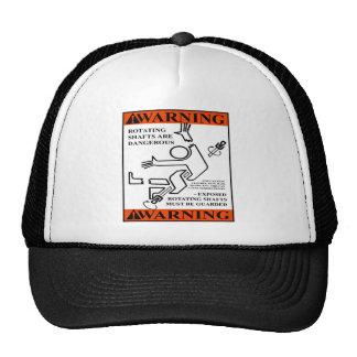 WARNING! ROTATING SHAFTS ARE DANGEROUS TRUCKER HAT