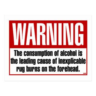 WARNING: Rugburns Postcard