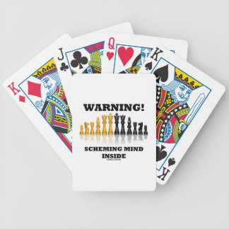 Warning! Scheming Mind Inside (Chess Set) Bicycle Playing Cards