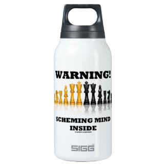 Warning! Scheming Mind Inside (Chess Set) 10 Oz Insulated SIGG Thermos Water Bottle